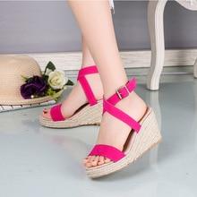 Summer Ultra High Wedges Heel Sandals Fashion Open Toe Platform Elevator Women