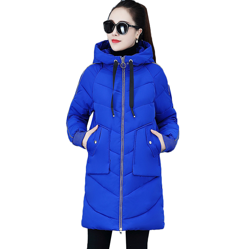 2019 New Fashion Women Fur Winter Jacket Cotton Padded Warm Thicken Ladies Coat Long Coats   Parka   Womens Jackets Clothing K1015