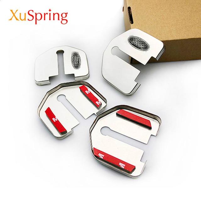 For Ford Kuga Focus Mustang Explorer Mondeo Edge Taurus F150 2008 2020 Car Door Lock Cover Protective Caps Case Styling