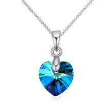 Heart Pendant Necklace Crystals Swarovski Jewelry-Accessories Women for Girls Gift Couples