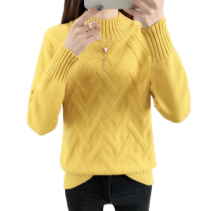 Autumn Winter Sweater Women Turtleneck 2019 New Long Sleeve Sweaters And Pullovers Knitted Jumper Bottoming Shirt Female Tops