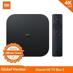 Wersja globalna Xiaomi  mi TV Box S 4K HDR Android TV Strea mi ng odtwarzacz multimedialny i Google asystent pilot zdalnego Smart TV mi Box S w Dekodery STB od Elektronika użytkowa na