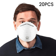 20Pcs Mouth Face N95 Mask Non-woven Dust Mask PM2.5 Anti Influenza Breathing Bicycle Riding Masks Facical Care