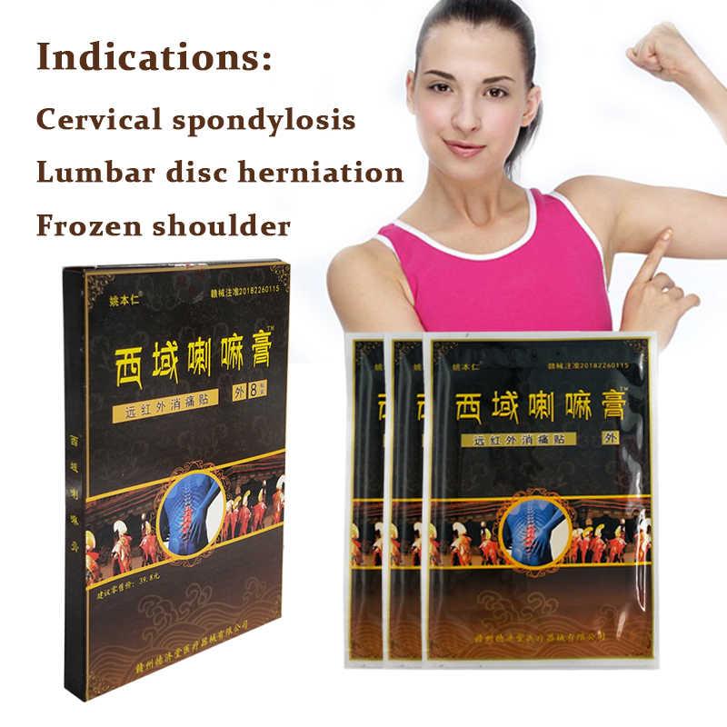 8 sztuk/worek ulga w bólu Patch chiński tybet naturalne ziołowe medyczne szyi mięśnie pleców ortopedyczne zapalenie stawów tynk