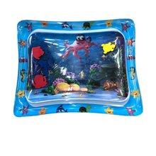 Dziecko nadmuchiwane pad niemowląt wody mata do zabawy zabawy Sea World pad nadmuchiwane wody pad dziecko zestaw do zabawy w wodzie pad tanie tanio 5-7 lat 2-4 lat Zwierzęta i Natura