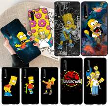NBDRUICAI Homer J Simpson funny Bart Simpson Cartoon Phone Cover for Huawei Honor 20 10 9 8 8x 8c 9x 7c 7a Lite view(China)