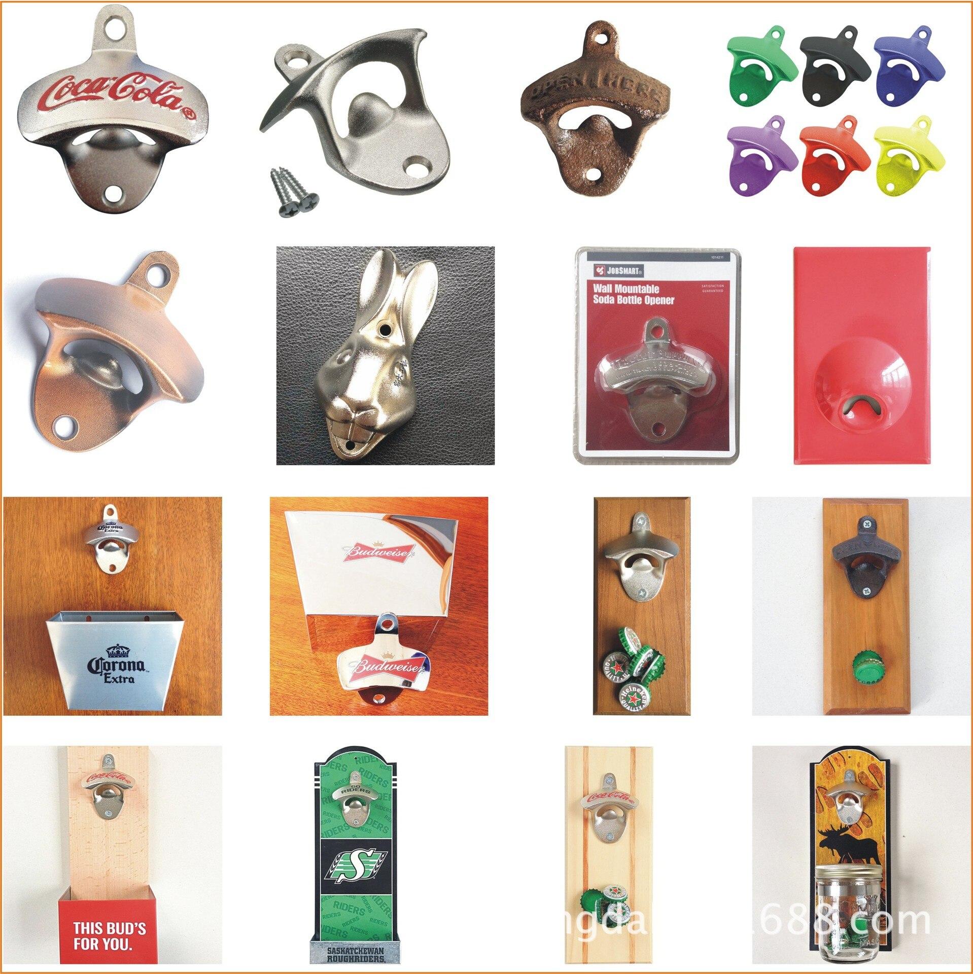 Kitchenware Board Refridgerator Magnets Bottle Opener Advertising Beer Leaves Wall Hanging Zinc Alloy Fixed Bottle Opener