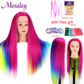 65cm 100% Hohe Temperatur Faser Blonde Haar Mannequin Kopf Ausbildung Kopf Für Braid Friseur Gliederpuppe Kopf mit freies geschenk