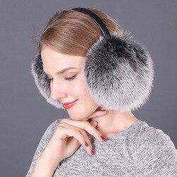 Новый стиль, наушники, наушники, полностью закрытые, действительно Лисий мех, наушники, меховая одежда, наушники, теплые наушники