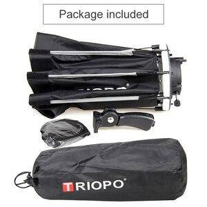Image 5 - Triopo 90 センチメートルスピードライトソフトボックスポータブル w/ハニカムグリッド屋外オクタゴン傘フラッシュキヤノンニコンソニー godox
