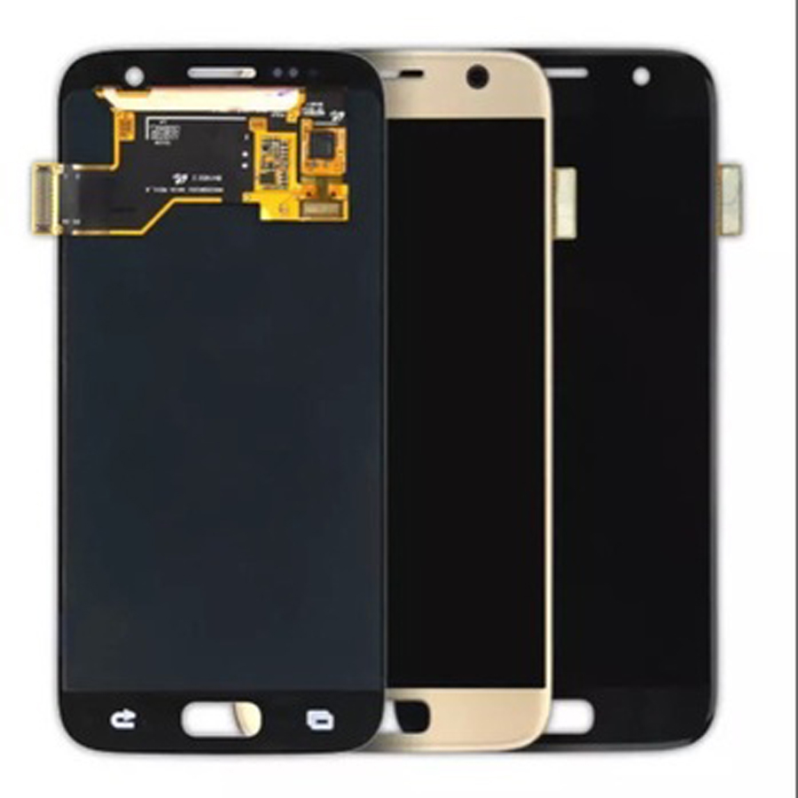 ORIGINAL 5.1'' SUPER AMOLED LCD for <font><b>SAMSUNG</b></font> <font><b>Galaxy</b></font> <font><b>S7</b></font> Flat <font><b>Display</b></font> G930 G930V G930F G930T <font><b>G930FD</b></font> Touch Screen Digitizer image