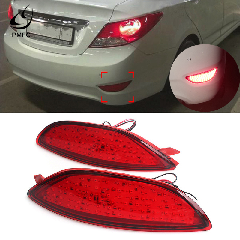 PMFC <font><b>LED</b></font> Automotive Rear Bumper Taillight Reflector Light Parking Brake Light Fog Light For <font><b>Accent</b></font> / Verna / Solaris 2008-2 image