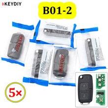 KEYDIY – télécommande universelle à 2 boutons, série B B01 2, 5 pièces/lot, pour KD900 URG200 KD X2 Mini KD pour générer une nouvelle télécommande