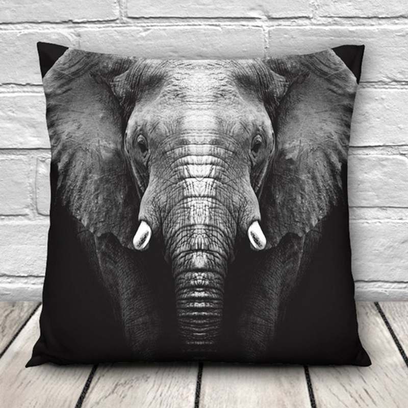 >CANIRICA <font><b>Pillow</b></font> Cover Elephant Decorative <font><b>Pillows</b></font> For Living Room Sofa Cushion Cover Kussenhoes Animal <font><b>Farmhouse</b></font> Home Decor <font><b>Gift</b></font>