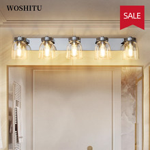 Simple Mirror Light Modern Makeup Mirror Lamp Glass Lampshade Wall Lamp for Aisle Bathroom Aluminum Home Decoration Lighting