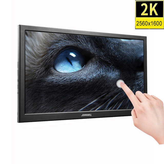 10.1 inch HD 2K touch screen Gaming monitor pc small portable LCD Display IPS 2560*1600 Type C 1