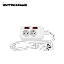 2.5 Meter Eu Plug Socket 10A 250V Stopcontact Home Office Extension De Power Strip Met Schakelaar Europese Franse power Plug