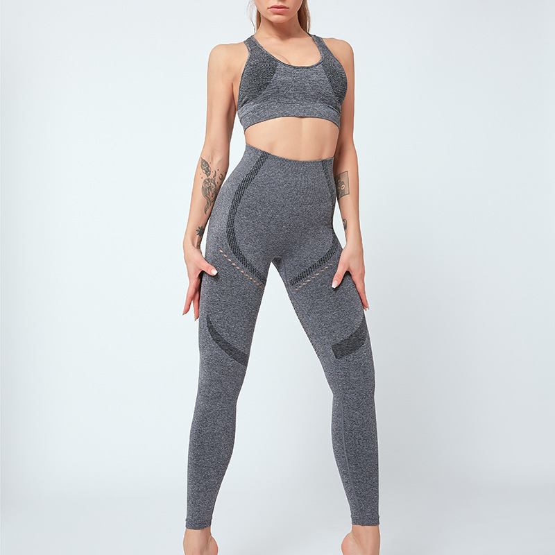 Women Yoga Suit Seamless Fitness Sets 2PCS Top Leggings Sportswear Sexy Sport Suit Gym Wear Running Clothes Tracksuit,ZF330