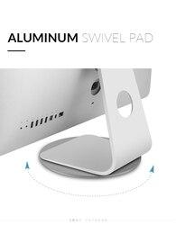 Stojak na iMac aluminiowy Monitor obrotowe wsparcie komputer biurko Dock ekran laptopa podstawa obrotowa do iMac Apple 21 ''27''