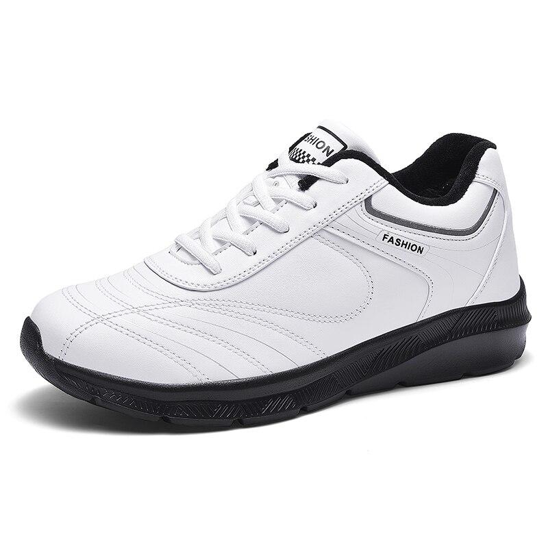2019 Winter Men Shoes Lace-Up Men Fashion Shoes Microfiber Leather Casual Shoes Brand Men Sneakers Zapatos De Hombre