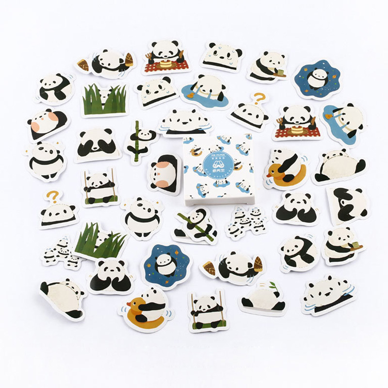45 Pcs/pack Cartoon Panda Bullet Journal Washi Stickers Decorative Stationery Sticker Scrapbooking DIY Diary Album Stick Label