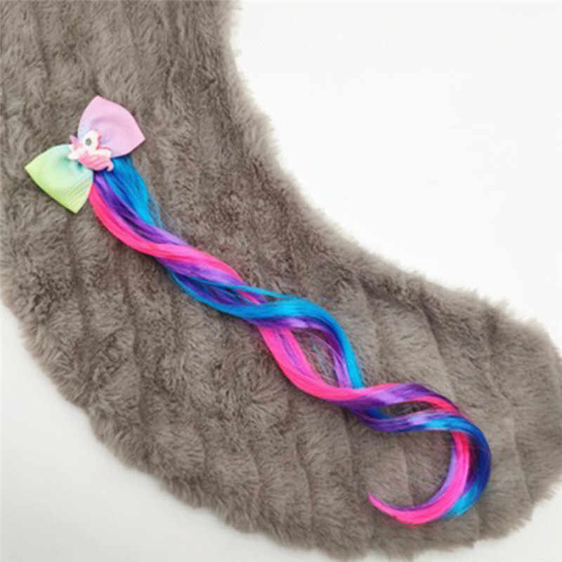 Haar Zubehör Bunte Fliege Haar Clips für Mädchen Regenbogen Glitter Flügel Haar Bögen Prinzessin Kinder Lange Perücke Haar Pins