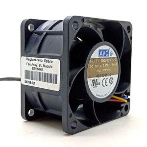 Ventilador de alta velocidade, 60mm pwm ventilador avc 6038 12v ventilador de potência do servidor de computador