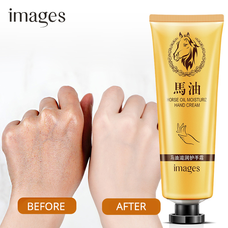 Horse Oil Repair Hand Cream Anti-Aging Soft Hand Whitening Moisturizing Nourish Hand Care Lotion Cream 30g IMAGES