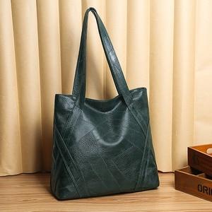 Big Casual Leather Tote Bags for Women Large Capacity Hobo Handbags Retro Patchwork Shoulder Bag Female Vintage Shopper Bag 2020