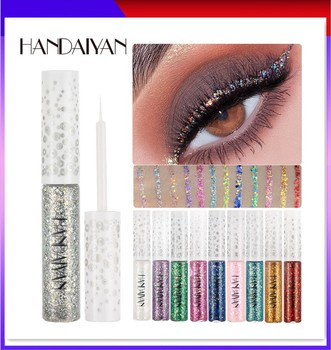 New Liquid Eyeliner Waterproof Glitter Magic Color Rose Gold Brown Cosmetic Bright Makeup