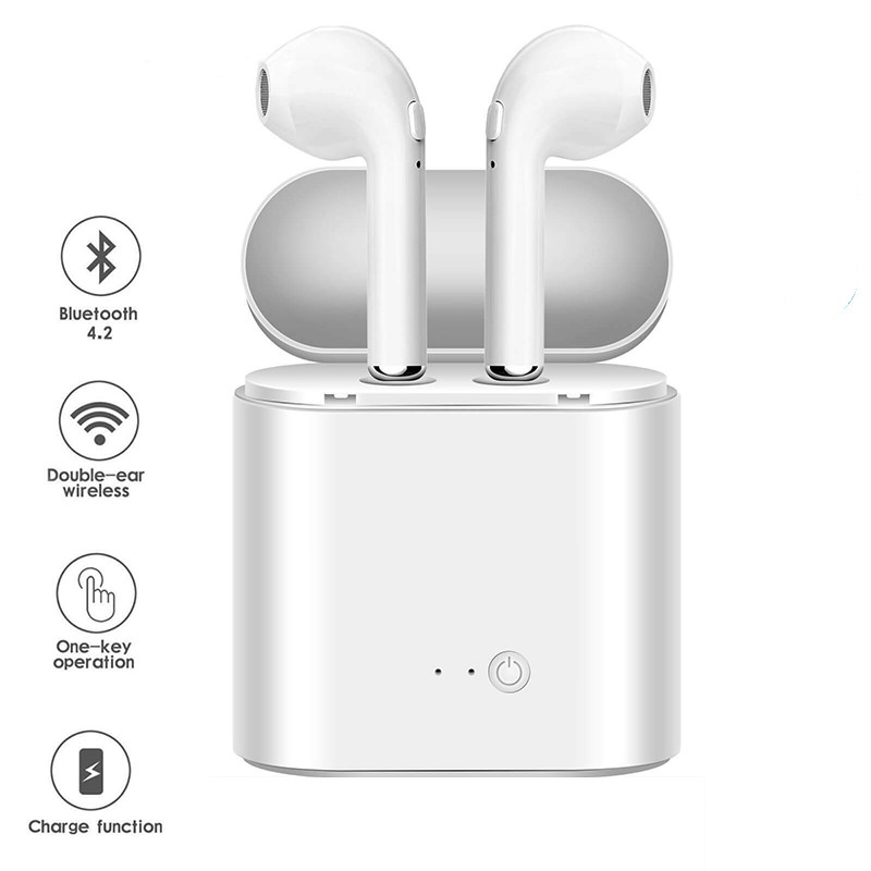 Bluetooth Earphones I7s TWS Sports Fitness Wireless Headsets Stereo Wireless Bluetooth Earphone With Charging Box for All Phone(China)