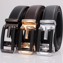 DYROREFL 1Pcs  Mens Leather Belt Automatic Buckle Business Youth Trend Fashion Casual Gifts N60