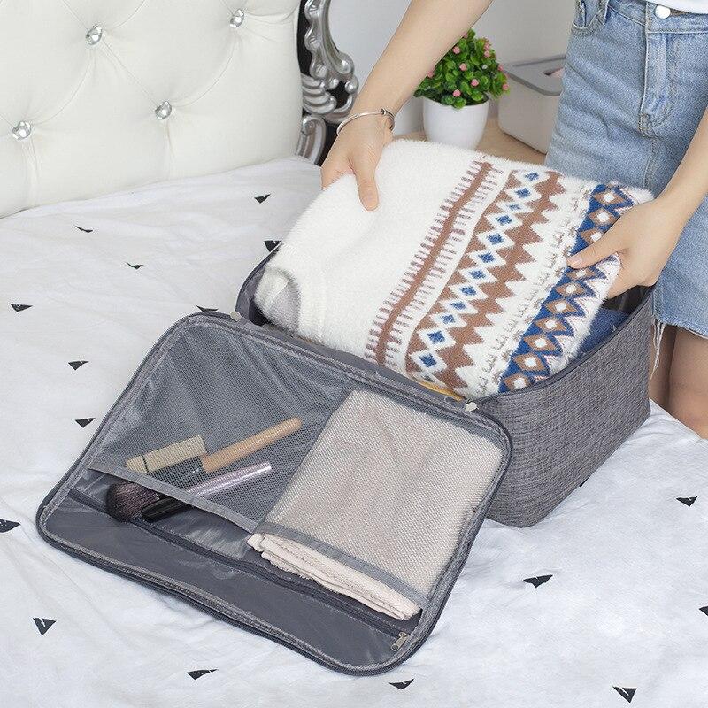 Travel Waterproof Double Zipper Storage Bag Underwear Sweater Clothe Organizer Makeup Wash Towel Pouch Supplie Storage Accessori