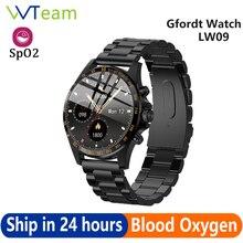Gfordt – montre connectée LW09 pour hommes, bracelet de Sport avec moniteur de fréquence cardiaque, en acier inoxydable 316, Bluetooth 5.0, IP68