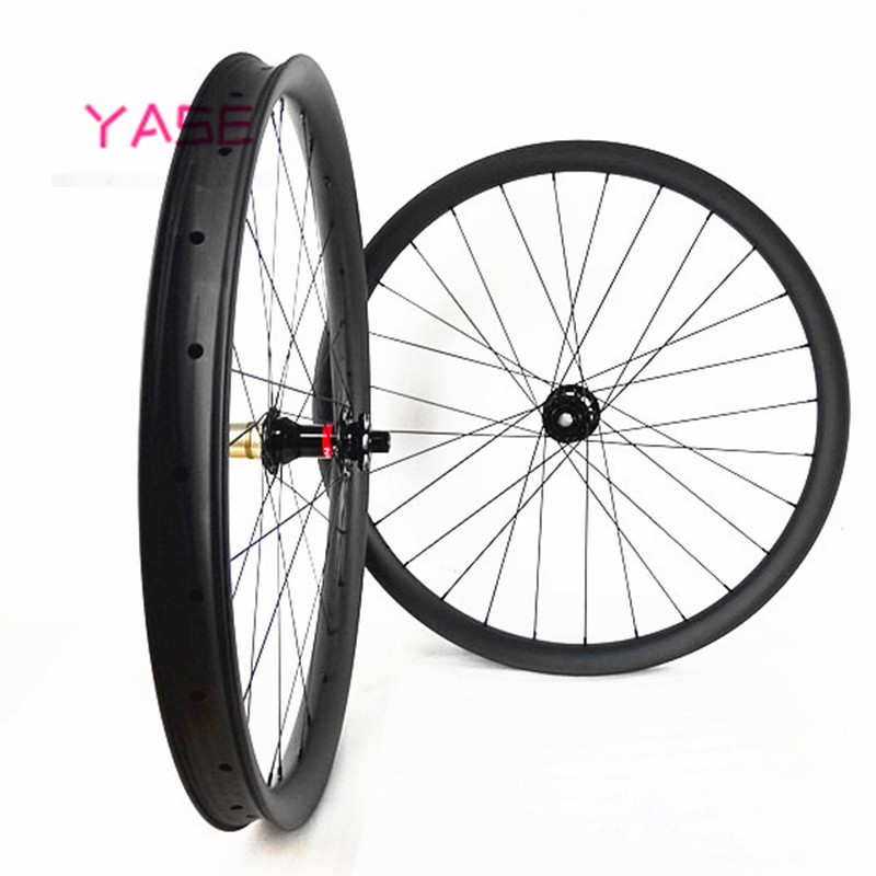 29er carbon mtb wheelset 40x28mm tubeless aro 29 mtb asymmetry boost NOVATEC D791SB D792SB 110x15 148x12 bike disc wheels