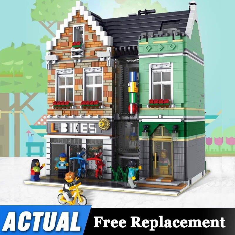 Lepining Street View Toys Compaitble With 15034 Bike Corner Shop Set Building Blocks Assembly Bricks Kits Kids Christmas Gifts