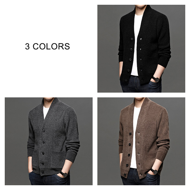 COODRONY Turtleneck Sweater Coat Men Fashion Streetwear Cardigan Men Autumn Winter New Arrival Soft Warm Knitted Cardigans C1195