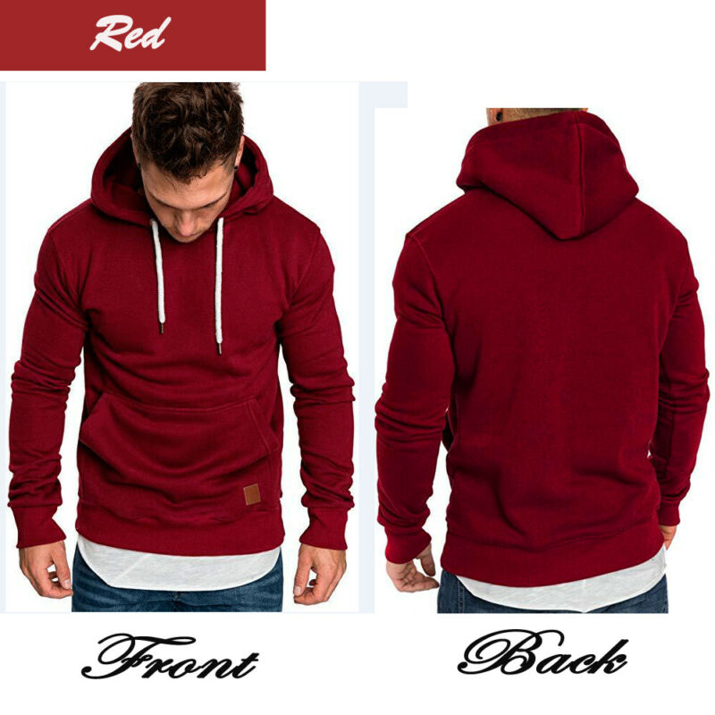 2019 Newest Sweat Shirt Men Slim Fit Athletic Muscle Hoodies Tops Men's Hooded Long Sleeve SweatShirt Hoody Sweat Shirt