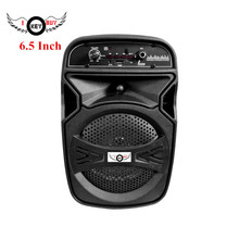 6.5 Inch Bluetooth Portable Trolley Speakers Built-in Li Battery Colorful Lights Mic Large Volume Audio Home Party Subwoofer