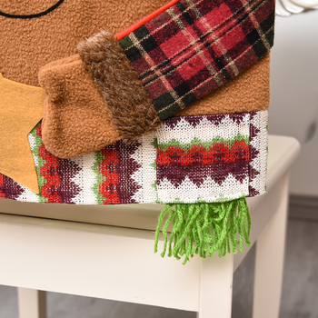 Christmas Snowman &Amp; Santa Chair Cover 4 Chair And Sofa Covers