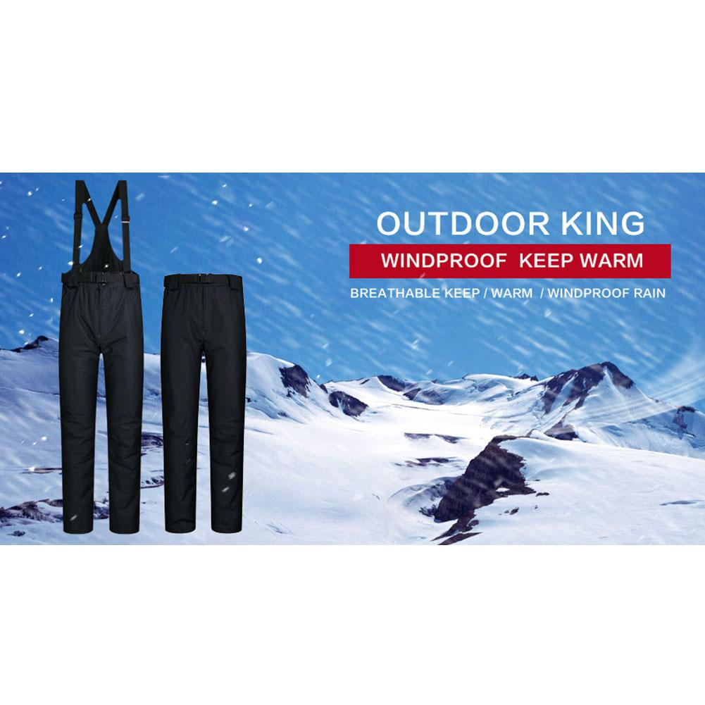 Men Women Outdoor Skiing Pants High Quality Windproof Windproof Warm Water Couple Snow Winter Ski Snowboard Pants without Belt