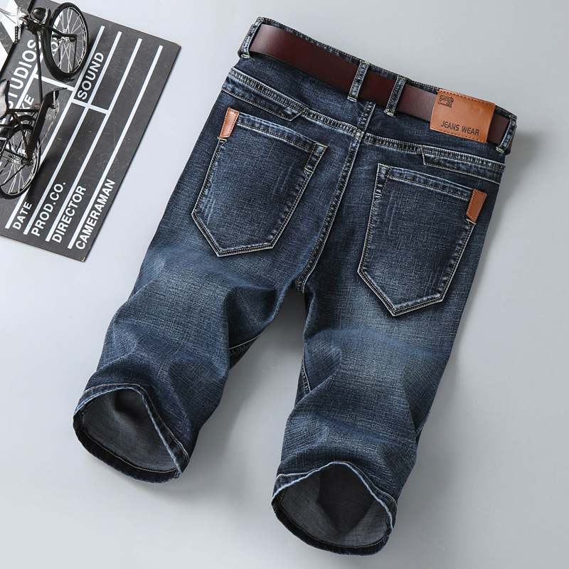 Jeans Men Shorts Pockets Loose Casual Plus-Size Fashion Denim Solid Knee-Length Hombre