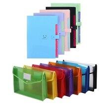 9x A4 Plastic File Wallet Document Folder Premium Poly Pockets & 5x Expanding File Folders Accordion Document Organizer