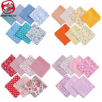 7 sztuk paczka tkanina do szycia DIY drukowane tkaniny bawełniane do patchworku rzemieślnik tkaniny cienkie materiały sprzedawane w pakietach 24*25cm tanie i dobre opinie JIHONG TEXTILE CN (pochodzenie) fabric Tak ( 50 sztuk) T7866 cotton 25*24cm pc 7 pcs as pack thin