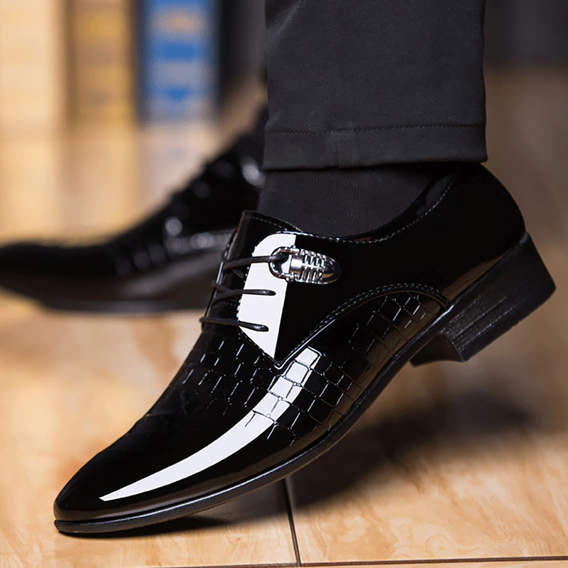 Plus Size 48 Gingham Leather Shoes Men Lace Up Pointed Toe Loafers Male Soft Driving Business Shoes For Men 2020 New Fashion