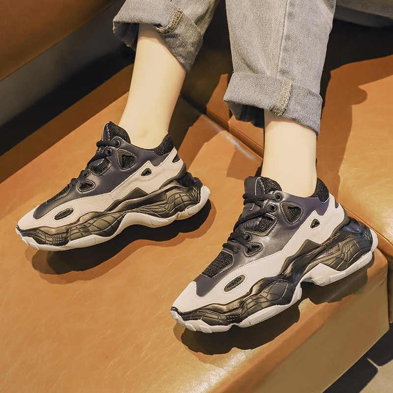 FUJIN/Женские повседневные кроссовки; зимние кроссовки; теплая женская обувь на шнуровке; женская обувь; Прямая поставка