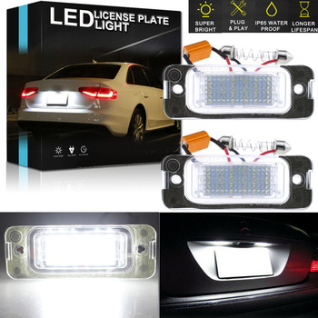 White Canbus LED License Plate Light For Mercedes ML GL R Class W164 X164 W251 Durable And Practical