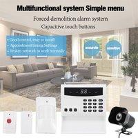 LED Intelligent Wireless Digital Home Security Alarm System Fireproof Burglarproof Emergency Help White For Home Safe