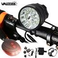 Super Helle 25000 Lumen 13 * XM-L T6 LED Fahrrad Lampe MTB Nacht Radfahren Lenker Fahrrad Licht mit Batterie-Set und Rot Rücklicht