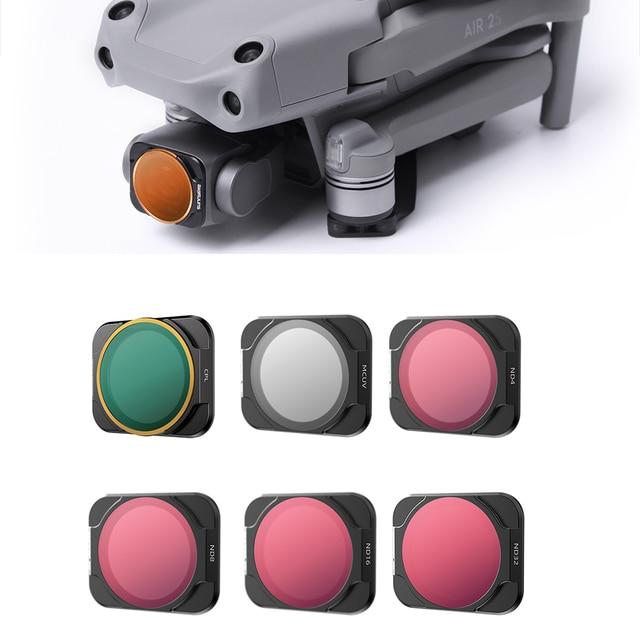 Filtr dronowy do zestawu DJI Mavic Air 2S UV/CPL/ND/PL/8/15/32/64/1000 neutralna gęstość Polar regulowana 2 5/6 9 6 sztuk zestaw akcesoriów